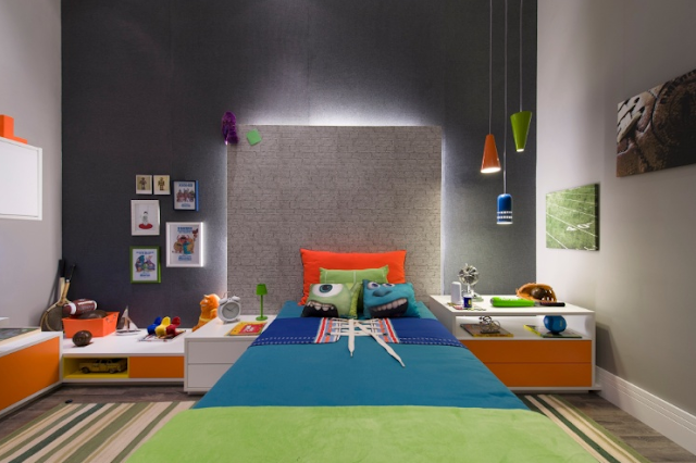 Dormitorio para Nino inspirado Monsters University