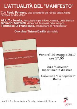 """L'attualità del """"manifesto"""" il 26 maggio 2017 a Roma."""