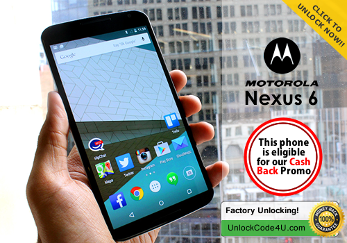 Factory Unlock Code for Nexus 6