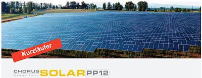 Chorus CleanTech Solar PP 12 Privatplatzierung Private Placement Italien 2013 Bewertung Rating