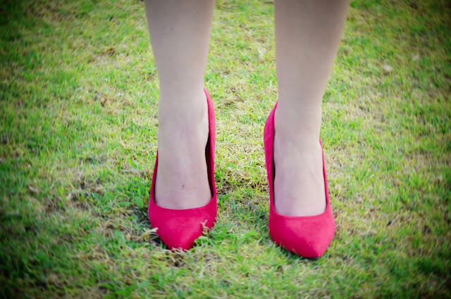 red high heels asos image