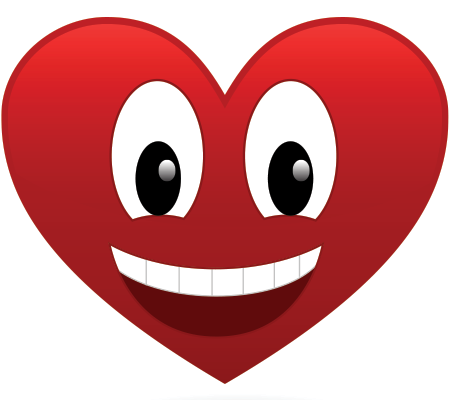 Smiling heart icon
