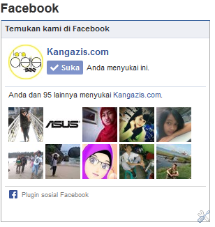 Cara memasang like box fanspage facebook di blog