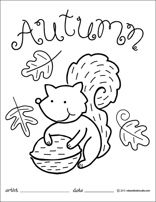 autumn coloring pages images - photo#8