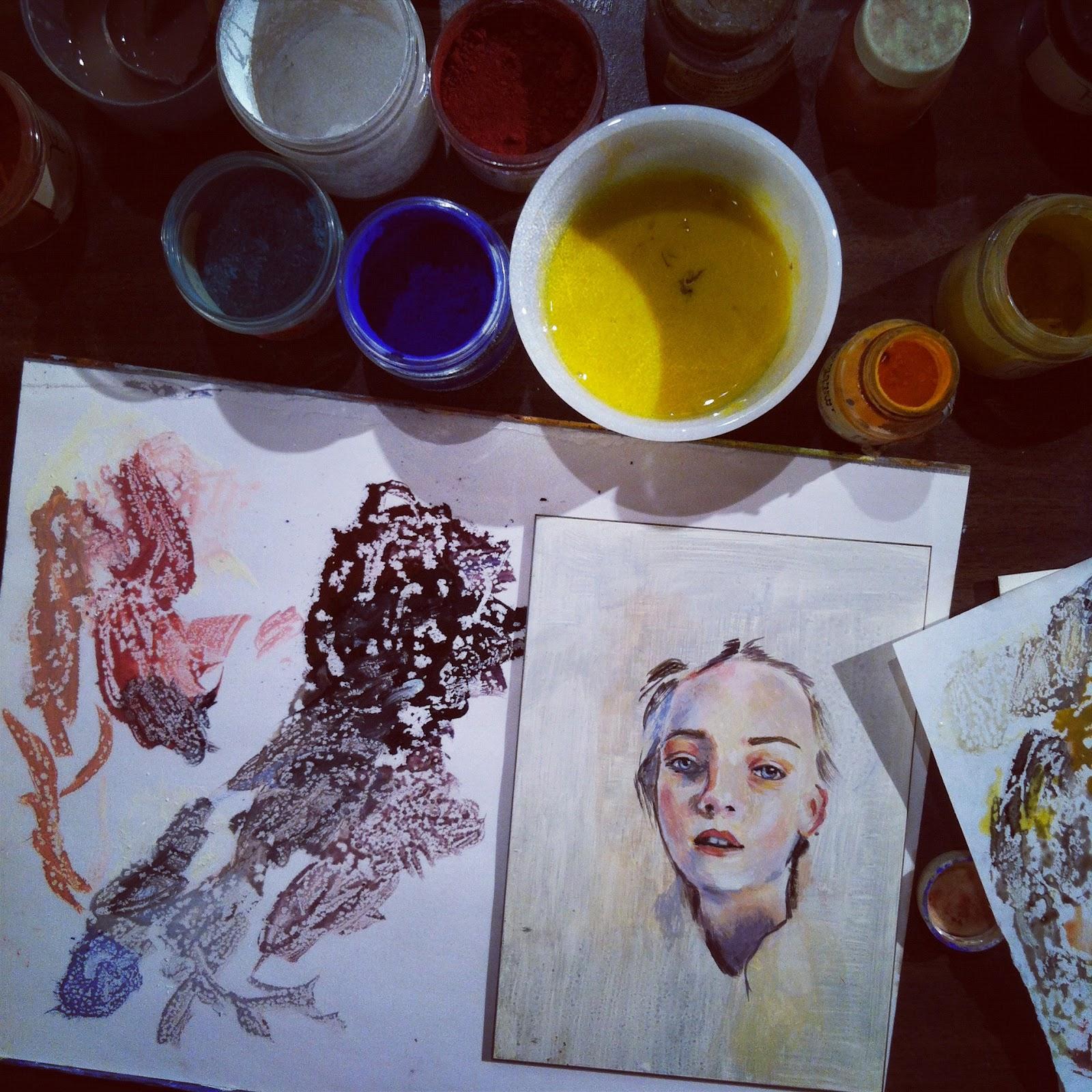 paper musings  egg tempera painting