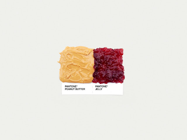 food art pairings david schwen, david schwen designer dschwen, graphic designer new york, pantone food, peanut butter and jelly jam