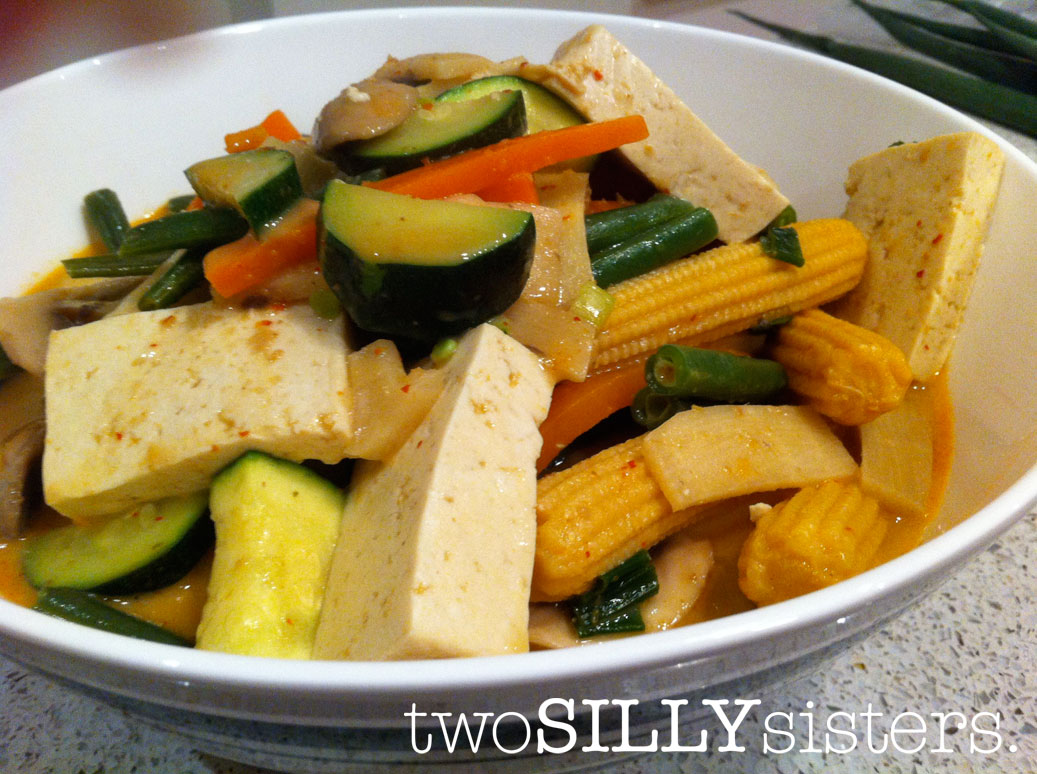Thai Red Curry With Asparagus And Tofu Recipe — Dishmaps