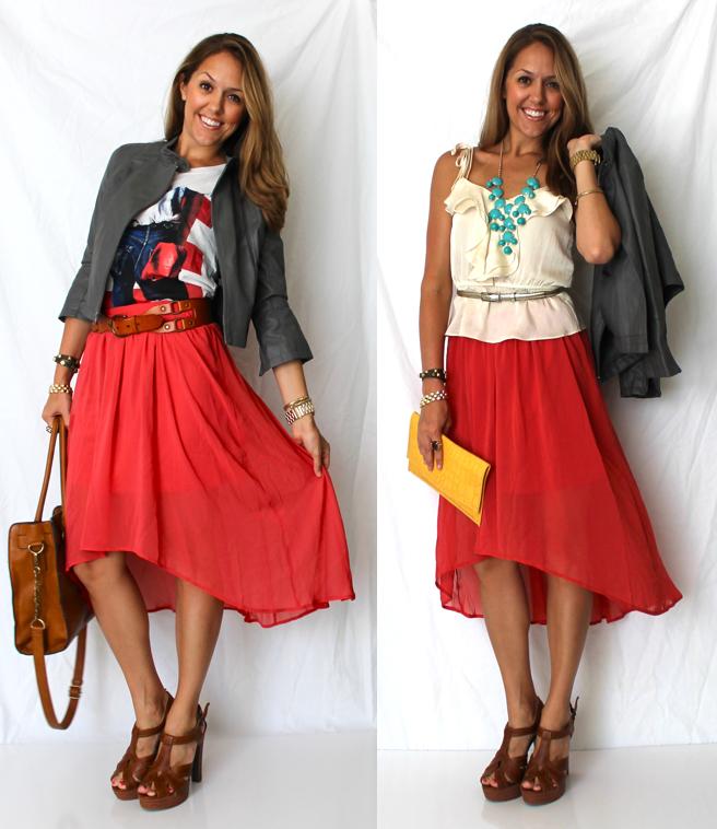Ju0026#39;s Everyday Fashion Todayu0026#39;s Everyday Fashion The Hi-Low Skirt