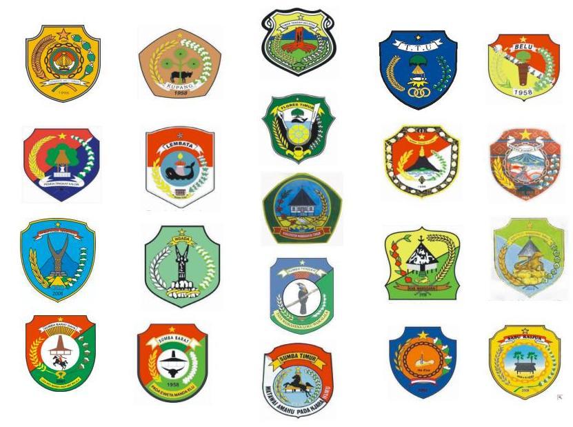 Lambang Kota Dan Kabupaten Se Provinsi Nusa Tenggara Timur Daon Lontar