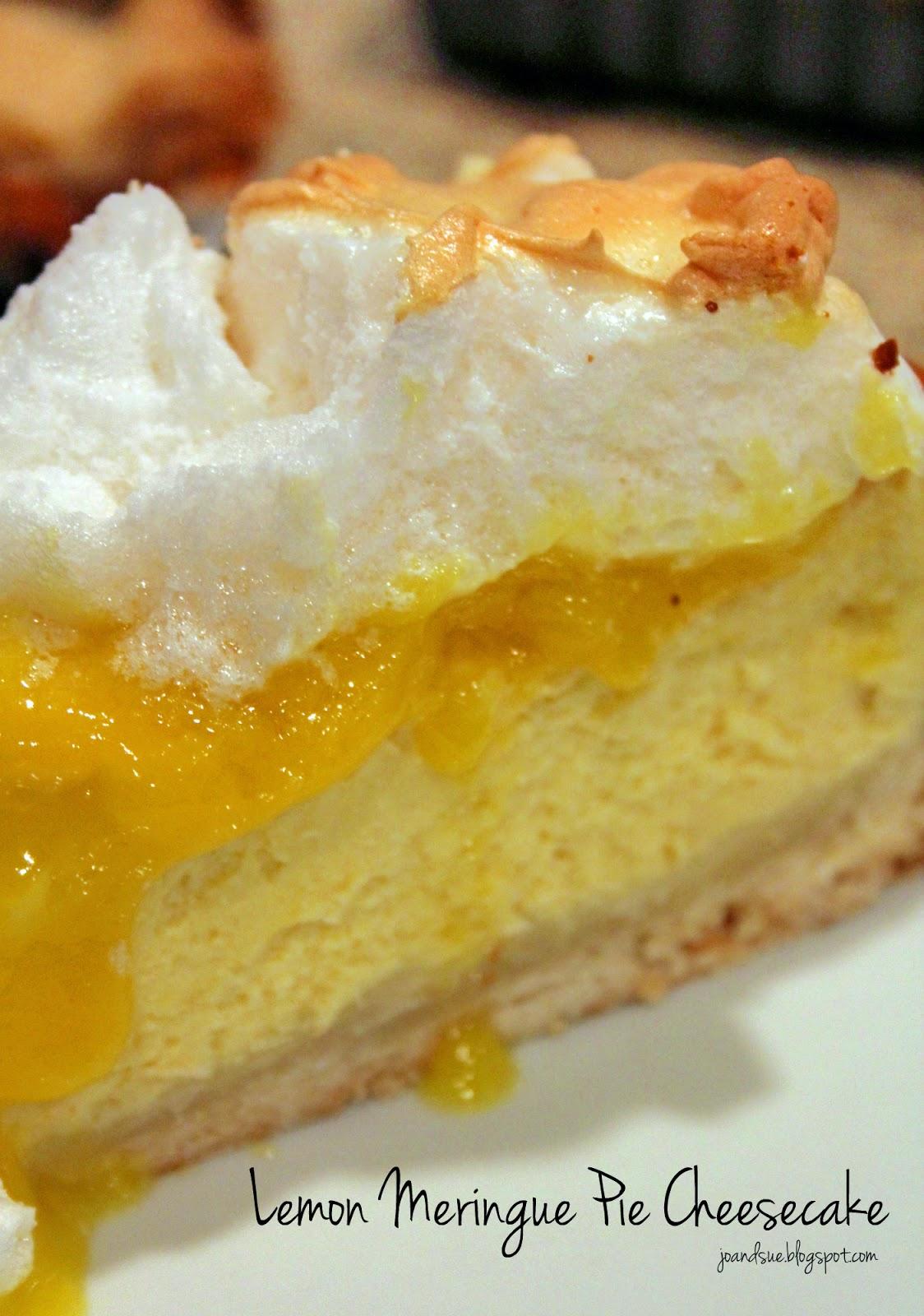Jo and Sue: Lemon Meringue Pie Cheesecake