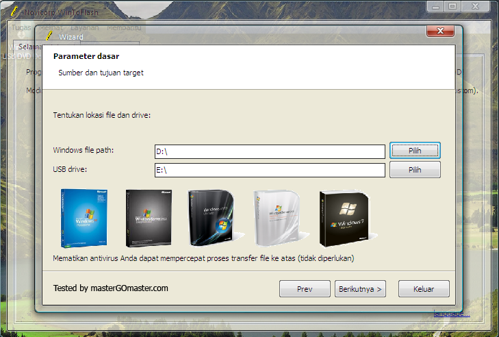 Cara Membuat Bootable Windows XP/Vista Dengan FlasDisk