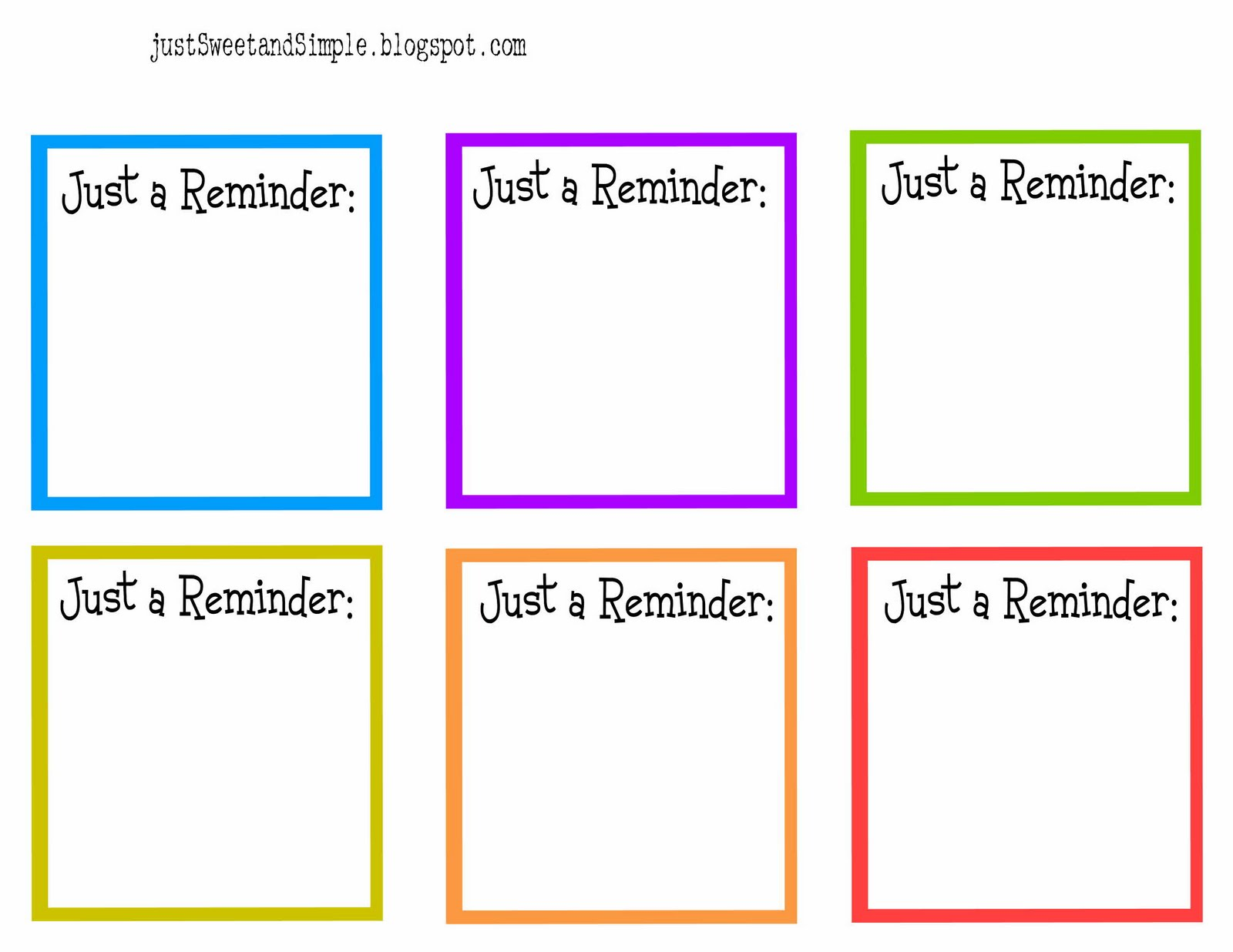 reminder note template – Reminder Note Template