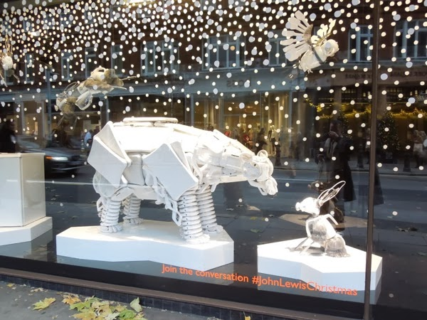 John Lewis Bear Hare Christmas campaign window Peter Jones
