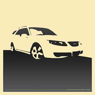 Saab 9-5, front and back