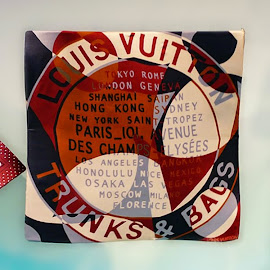 Travel the world or look like you have with a Louis Vuitton scarf.