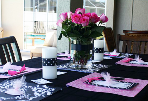 Black and white bridal shower decoration ideas