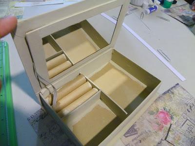 Altered Paper Mache Jewelry Box