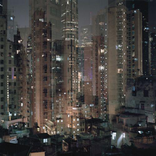 Ward Roberts Billions series fotografia dupla exposição cidade Hong Kong
