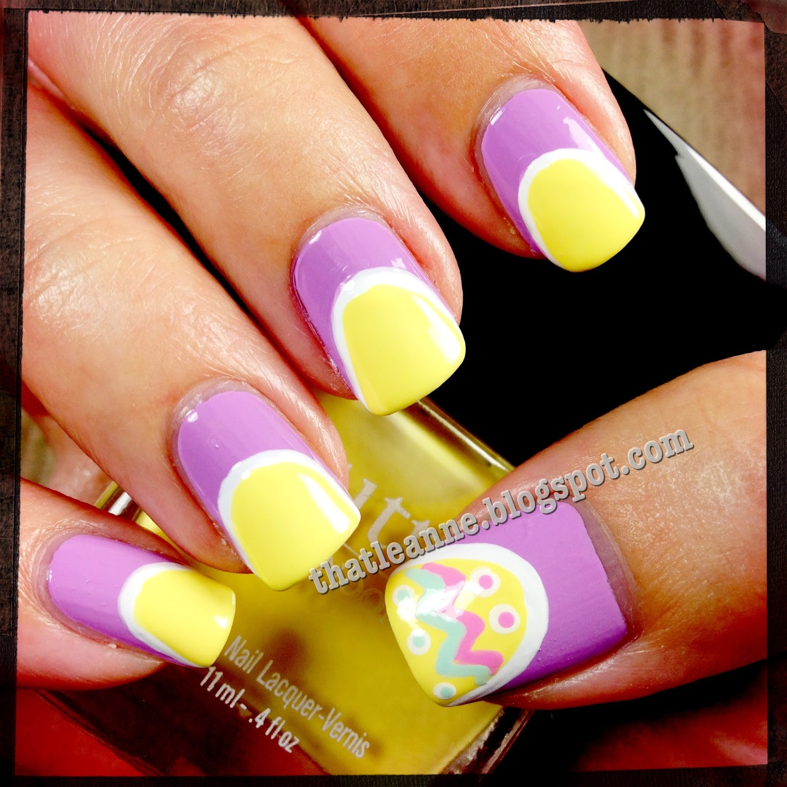 Easy Easter Nail Art: Thatleanne: Easy Easter Egg Nail Art How To