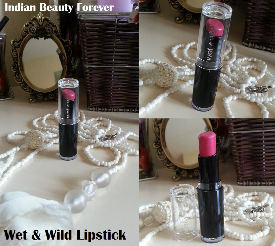 Wet and Wild Lipstick Smoking Hot Pink Review and lip swatches