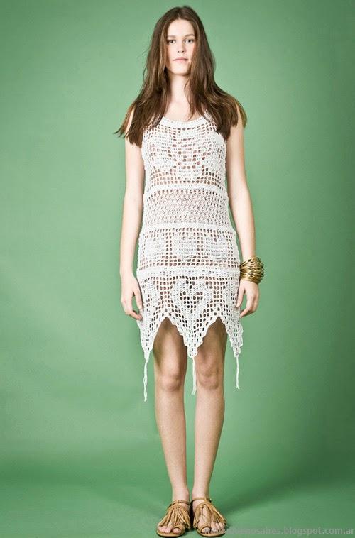 Moda Tejidos verano 2014. Agostina Bianchi primavera verano 2014 vestidos tejidos.