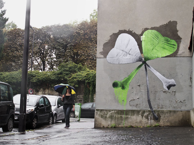 """""""Friday The 13th"""" Street Art By Ludo On The Streets Of Paris, France. 2"""