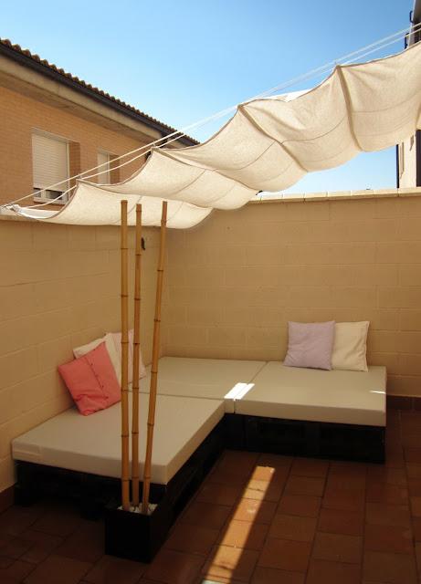 I d e a toldo corredizo casero for Toldo horizontal terraza