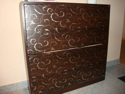 Noneland decorar con muebles forrados con papel pintado - Como decorar un mueble con papel pintado ...