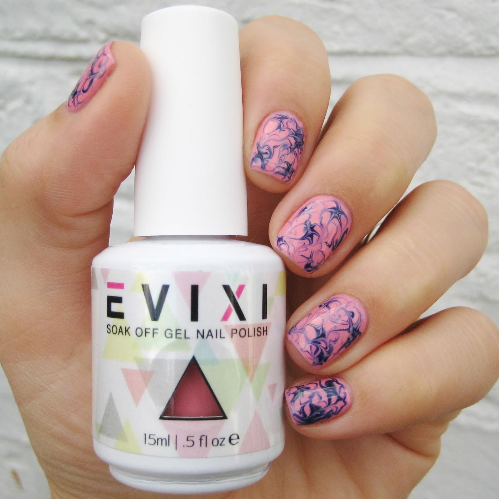 Dahlia Nails: Evixi Gel Review & Marble Mani