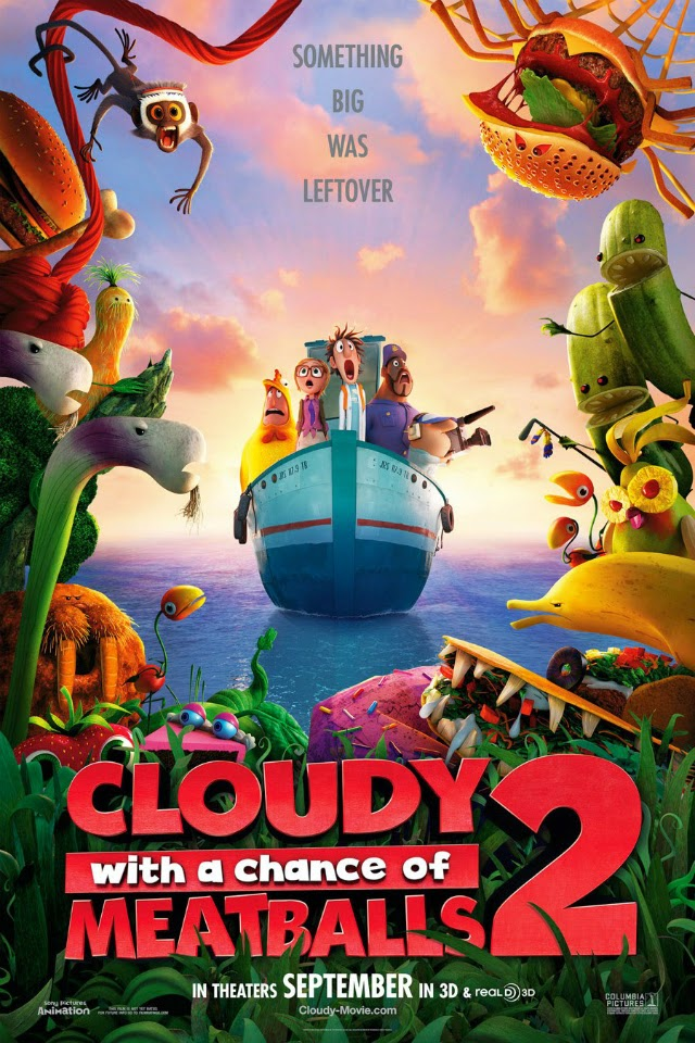 La película Cloudy with a Chance of Meatballs 2 ( Lluvia de albóndigas 2 )