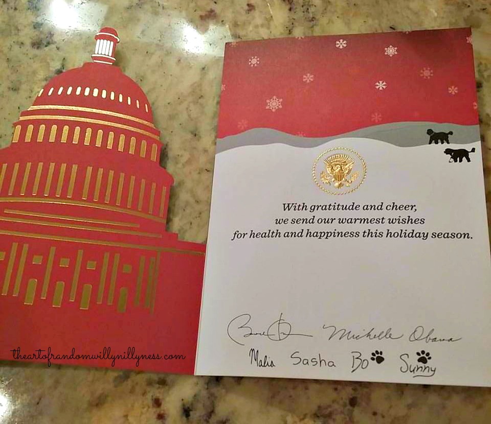 The Art of Random Willy-Nillyness: The 2015 White House Christmas Card!