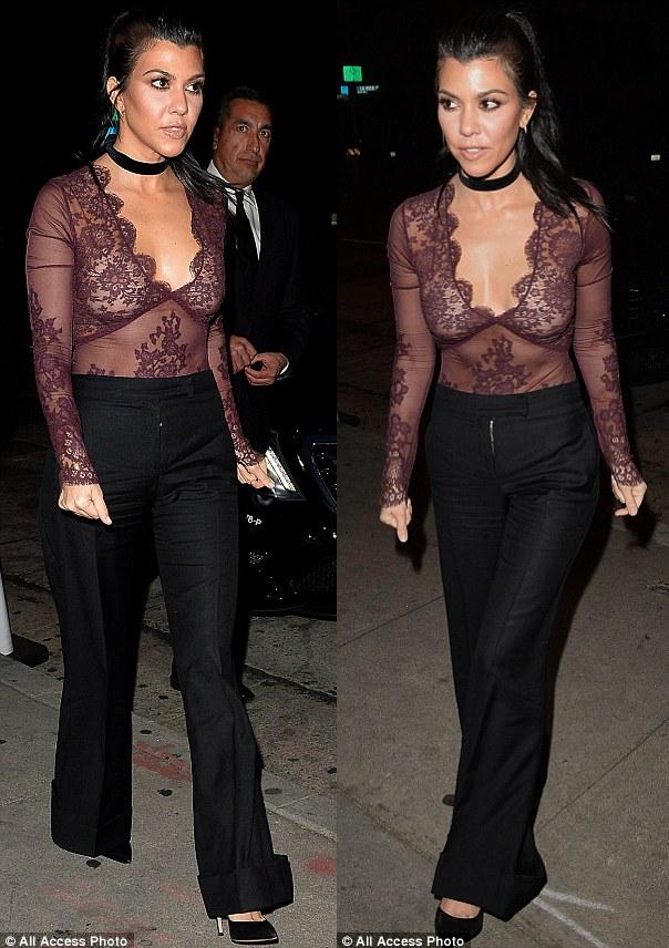 hot steppers kourtney kardashian steps out bra less in