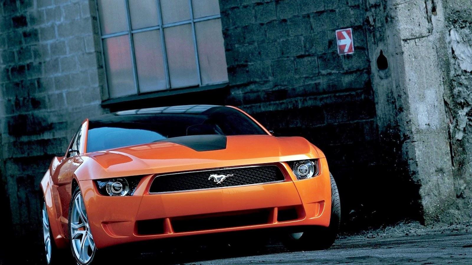 Orange Ferrari Car HD Wallpaper