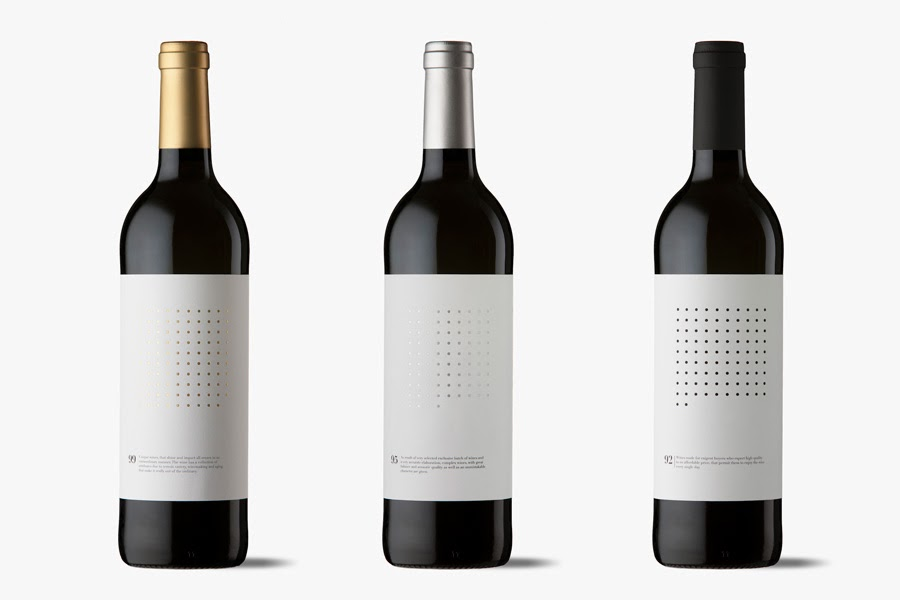 Dotted grid wines on packaging of the world creative package design gallery for Bouteille de vin personnalisee montreal