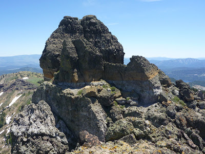 Top castle of Castle Peak ridge