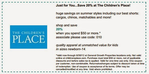Childrensplace coupon code