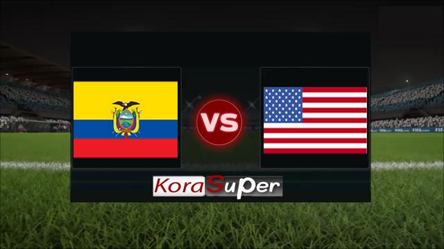 اليوم مشاهدة مباراة الاكوادور وامريكا بث مباشر 08-06-2019 السبت