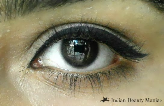 Eye makeup with coloressence supreme eyeliner in black