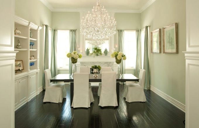 Green Dining Room Chandeliers