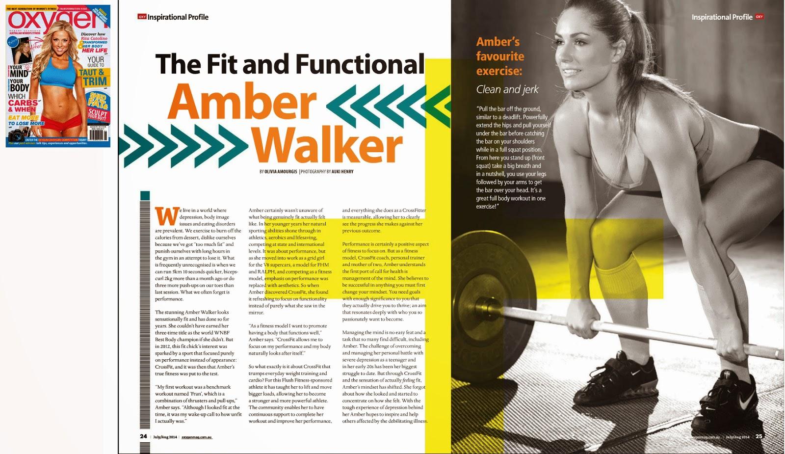 Oxygen Magazine Amber Walker