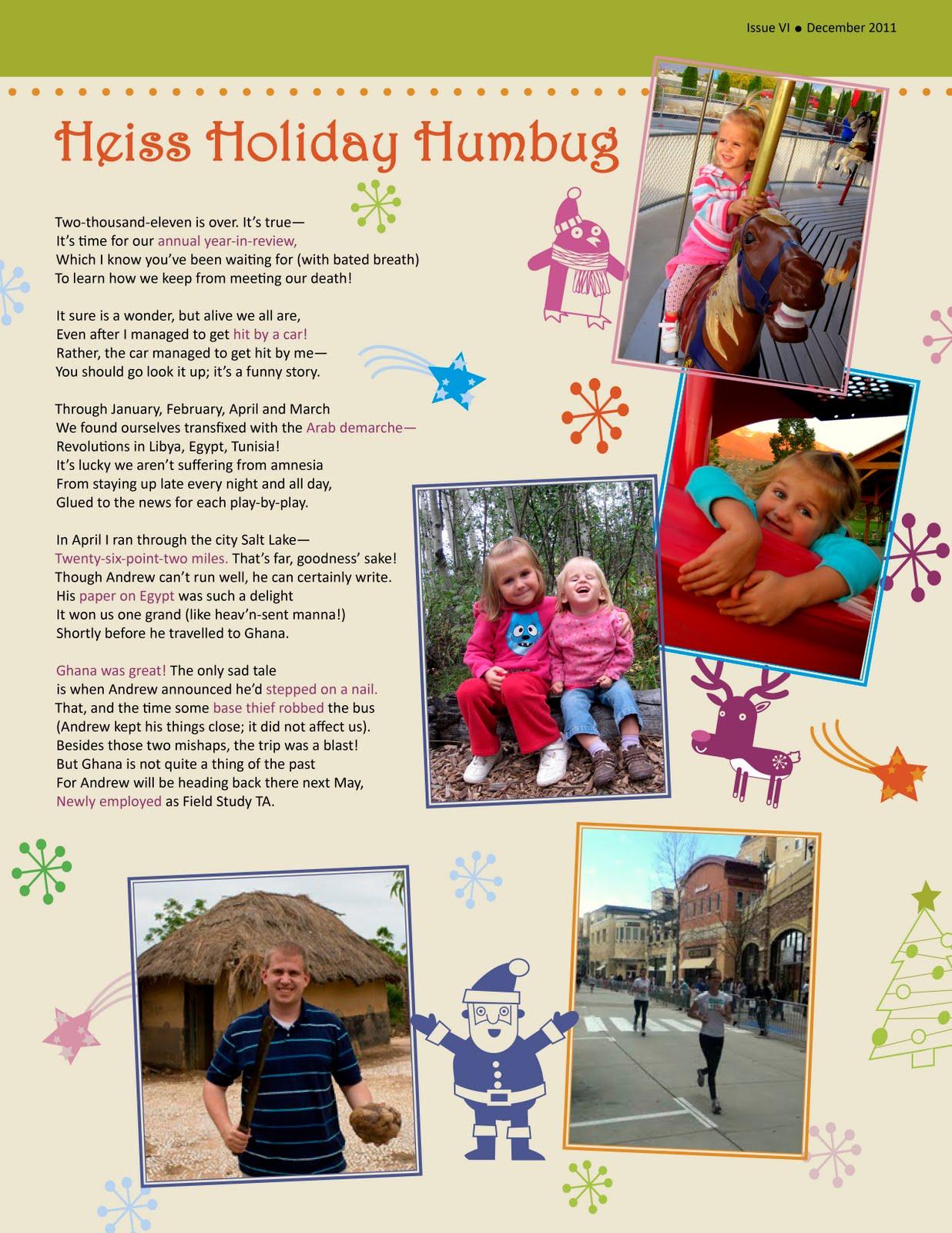 Christmas Letter 2011