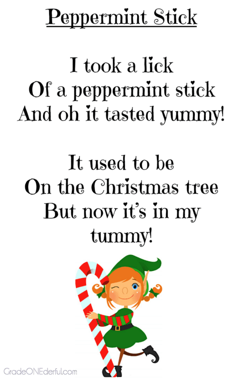 Christmas Poems for Young Children! - Grade ONEderful