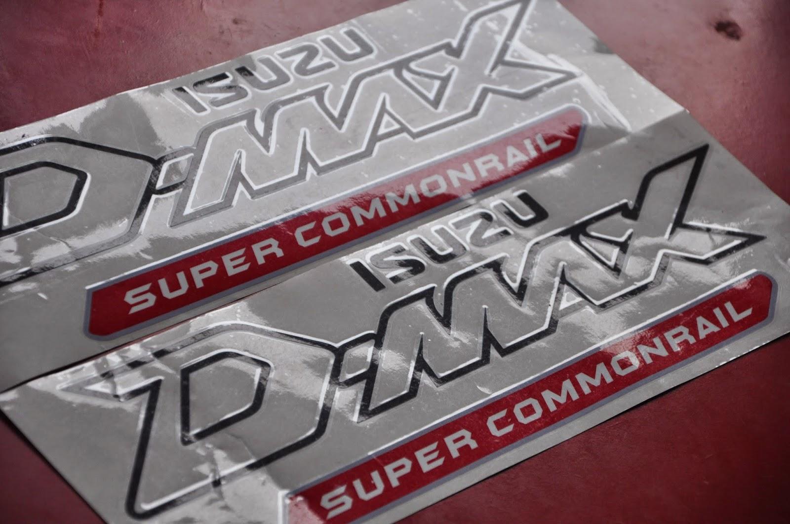 Dmax Isuzu Super Commonraill sticker OEM - AutoDecalsHouse ...