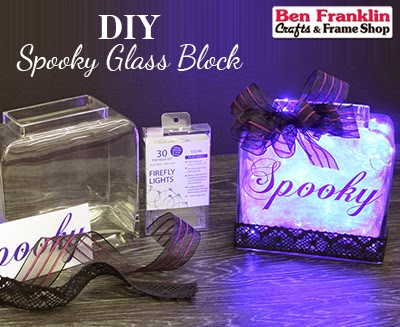 DIY Spooky Glass Block