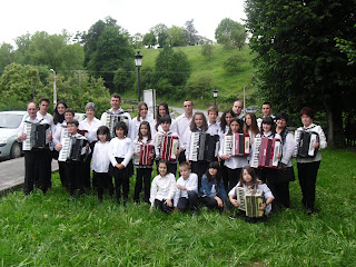 Alumnos de la escuela de música de la Kultur Etxea de Karrantza