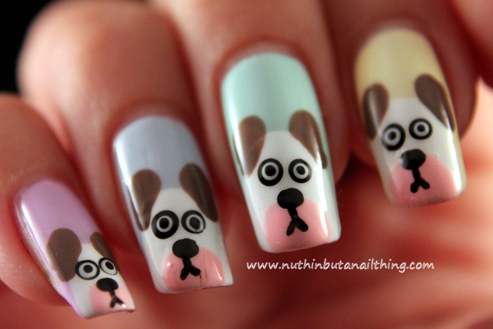Extraordinary Cute Puppy Nail Art Concerning Inspiration Article