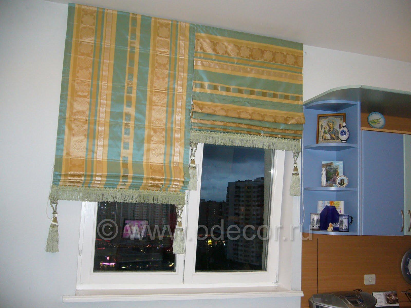 Римская штора на кухню своими руками фото как сделать