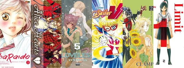 Lista de mangás de Shoujo e Josei publicados no Brasil em Julho de 2015