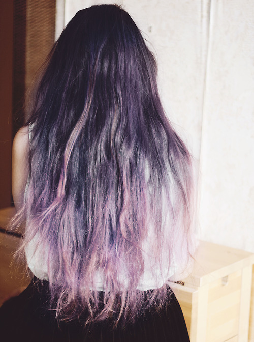 Brown and purple ombre hair