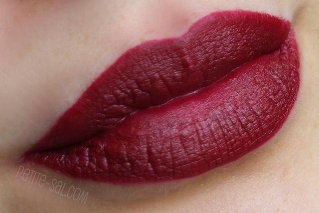 swatch mac diva lipstick on lips